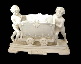 vintage edwardian french porcelain bisque figurine