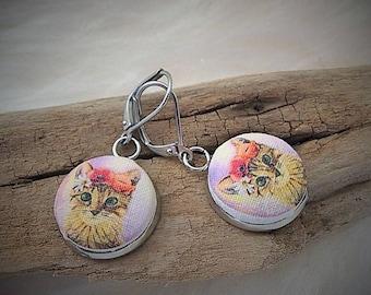 Presale of earrings! Multiple bases and choice/kitten/rabbit/sardines/whale illustrations