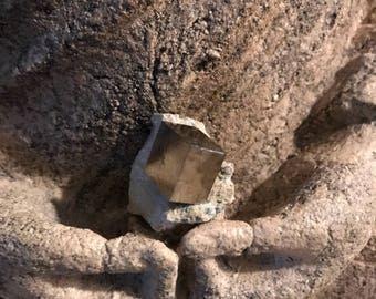 Pyrite Cube in Matrix, Spain, 47.9 Grams, CR1843