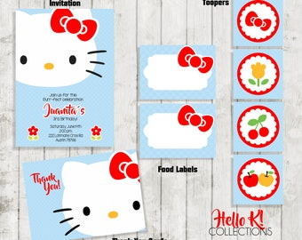 Hello Party Package /Hello Party /Kitty Invitation/ Hello K! Collections