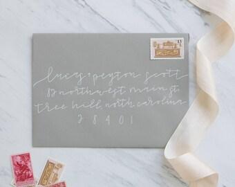 "Custom Envelope Addressing | Wedding Envelope Adressing | Wedding Calligraphy | Event Calligraphy | Envelope Calligraphy | ""Scott"" Style"