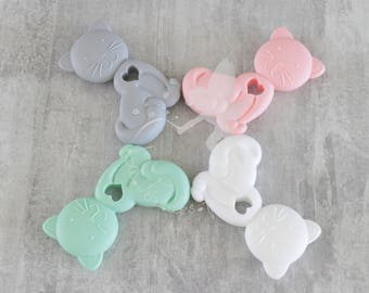 Silicone cat teether, for baby