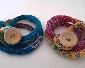 women's wrap bracelet / coiled bracelet / boho bracelet / cord bracelet / friendship bracelet / festival bracelet