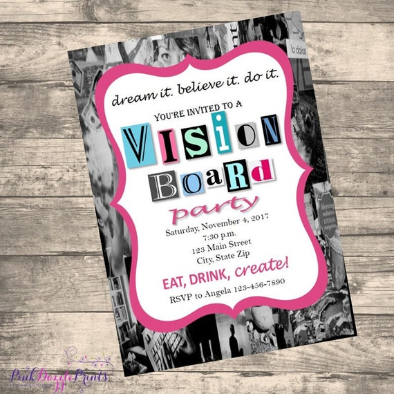 like this item - Vision Board Party Invitation
