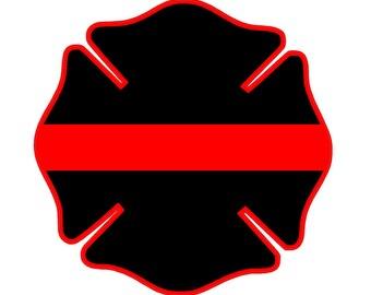 """Fire Deparment Logo (T23) 4"""" Firefighter Vinyl Decal Sticker Car Window"""