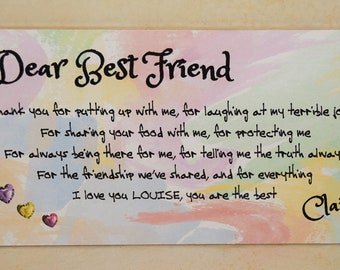 A54 FRIENDSHIP Friends  Plaque Sign Gift