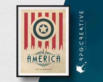 Captain America Origin Poster : America - MARVEL Gift