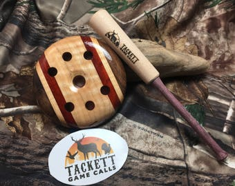 Laminate Turkey Call with a Copper Surface and Glass Soundboard