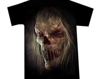 T-shirt Zombie face