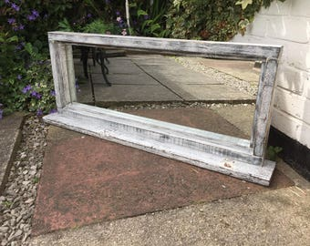 Beautiful distressed shabby chic mirror - perfect for your home.