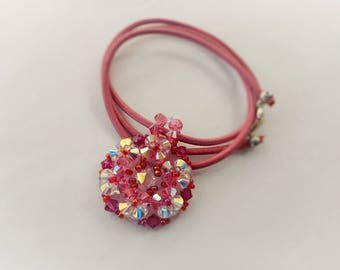 Necklace pink Crystal and Ruby Vega