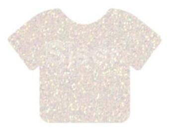 """1 12x20"""" Rainbow White Siser Glitter HTV, Siser Glitter Heat Transfer Vinyl, Pearl White Glitter HTV, Opal White Glitter HTV"""