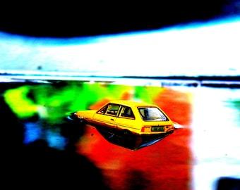 Ford Fiesta in flood