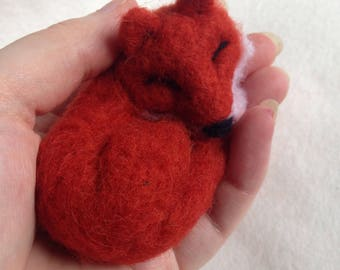 Sleeping Red Fox Gift