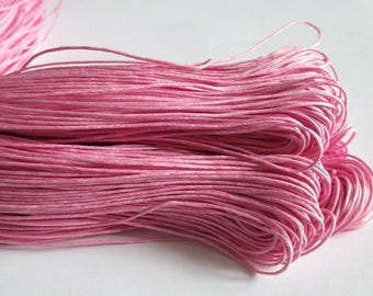 5 Metters pink waxed cotton thread 1 mm