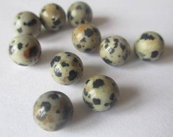 20 beads natural stone Dalmatian Jasper 8mm