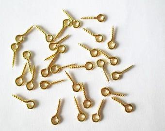 100 peaks 8x4mm gold color screw