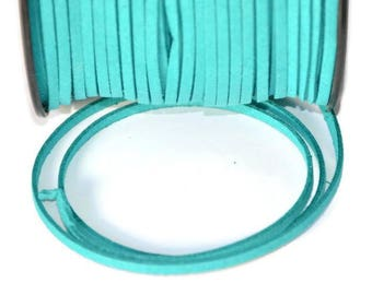 5 m suede 3 mm emerald green suede cord