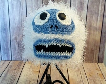 Crochet Abominable Snowman Hat