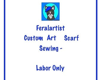 Custom Sewing, Send Me Your FQ, I will sew your Artsy Scarf,Sewing Service,Artistic Scarf-Dolly Bow-Top Knot-Tie Up-Hair Accessory