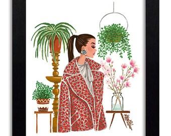 Oscar de la Renta - Fashion Illustration Print Fashion Print Fashion Art Fashion Wall Art Fashion Poster Fashion Sketch Art Print