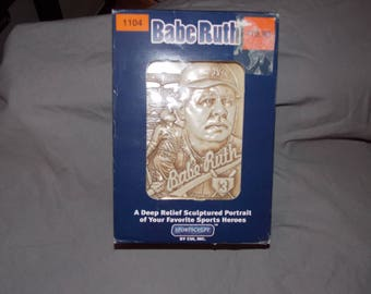 Babe Ruth sculpted plaque