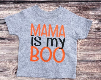 Mama is my Boo Halloween Toddler Boy Shirt