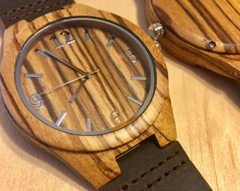 Engraved Watch - Engraved Wood Watch – Personalized Watch – Wood Watch for Him - Groom Gift - Anniversary Gift - Groomsmen Gift