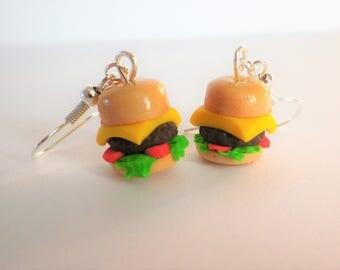 "buckles d ear gourmet ""mac"" hamburger sandwich fimo"