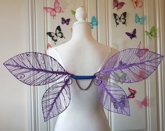 Purple Skeleton Leaf Fairy Wings