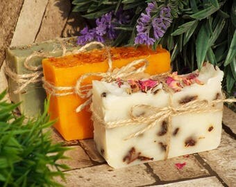 Soap special offer! Save money! Natural soap, Any 3 handmade soaps, multi-buy discount! Soap gift