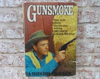 Gunsmoke Television Story Book James Arness 1963 Western Cowboy