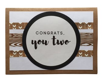 Northwoods Wedding/Engagement, Housewarming, Adoption, Baby Card - Congrats You Two