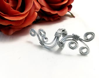 Adjustable Wire Wrapping Aluminum Celtic Ring For Her