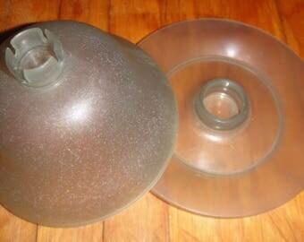 Vintage-Tupperware-12-Piece-Set-Dessert-Jello-Ice-Cream-Cups-Smoke-Gray-754-35/ Set of 6 Cups With Bases/ 1970's Tupperware