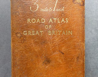 3 Miles to 1 Inch Road Atlas of Great Britain - W & A K Johnstone - 1966