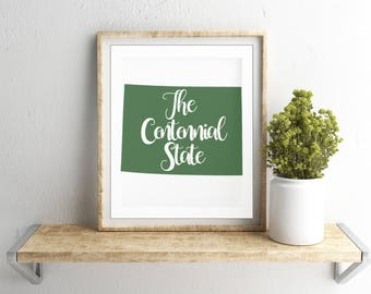 Colorado state nickname - The Centennial State - INSTANT DIGITAL DOWNLOAD
