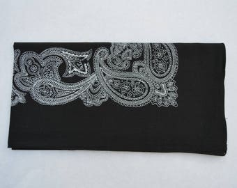 black and orange Paisley bandana