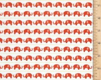 Riley Blake Flannel; Oh Boy Elephants in Orange; Pattern F3301;  1/2 yard
