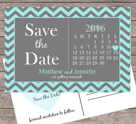 Items Similar To Calendar Save The Date Card, Save The