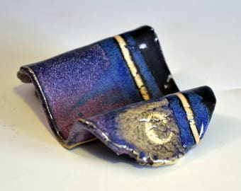 Business-card holder - C - purple and black
