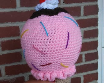 Crochet Ice Cream Cone Plushy