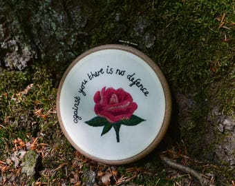 Sapphic poetry rose embroidery