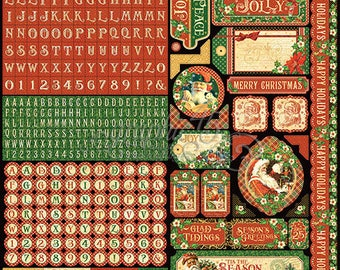 Graphic 45-St. Nicholas Sticker Sheet