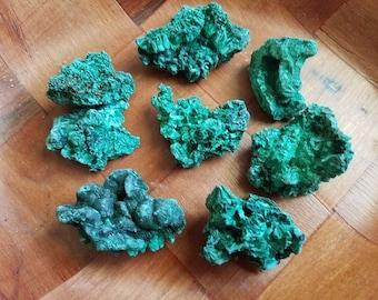 Fibrous Malachite Pieces Small Size