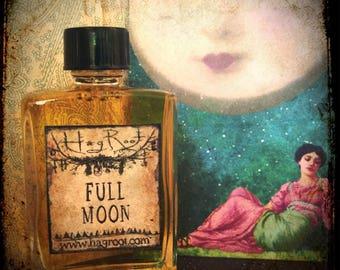FULL MOON-(Cherry, Oakmoss, Pine, Lavender, Rose, Patchouli, Star Anise, Frankincense, Blood Orange, Coffee) Perfume Oil, Ritual Oil