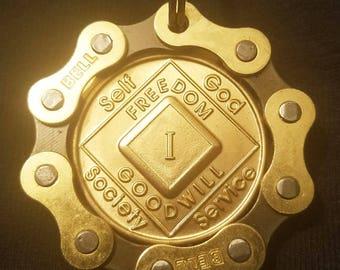 NA Bike Chain Medallion Holder For Key Chain