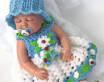 Baby dress, Baby Easter dress, Newborn dress, Baby shower gift, Crochet baby dress, Coming Home Outfit, Flower baby dress, Baby gift ideas