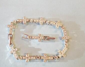 Vintage Avon Rhinestone cross bracelet, avon bracelet, cross bracelet, bracelet, Avon