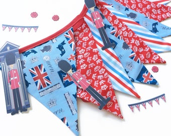 British Bunting, Royal Bunting, Union Jack Bunting, Royal Wedding Decor, British Party Decor, British Royalty, Royal Wedding, Nessa Foye